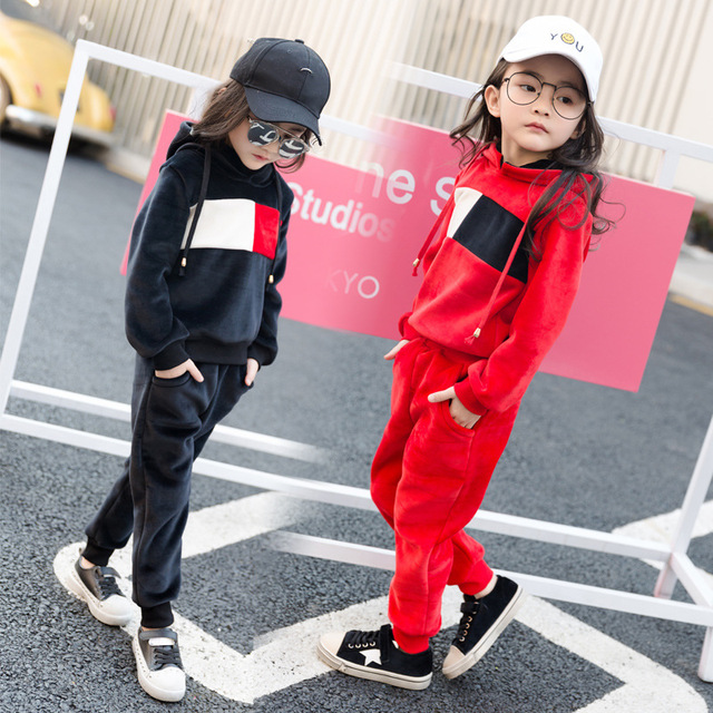 676e627bf4fab US $26.99 |2018 Autumn Winter New Girls Fashion Personality Clothes  Children's Clothing Sets Female Kids Multicolor Sportswear Suit A190-in  Clothing ...