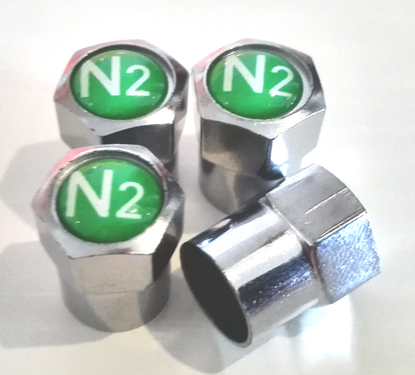 1000 pcs lot Nitrogen N2 Logo Brass Metal Tire Valve Caps Copper Car Valve Stem Covers