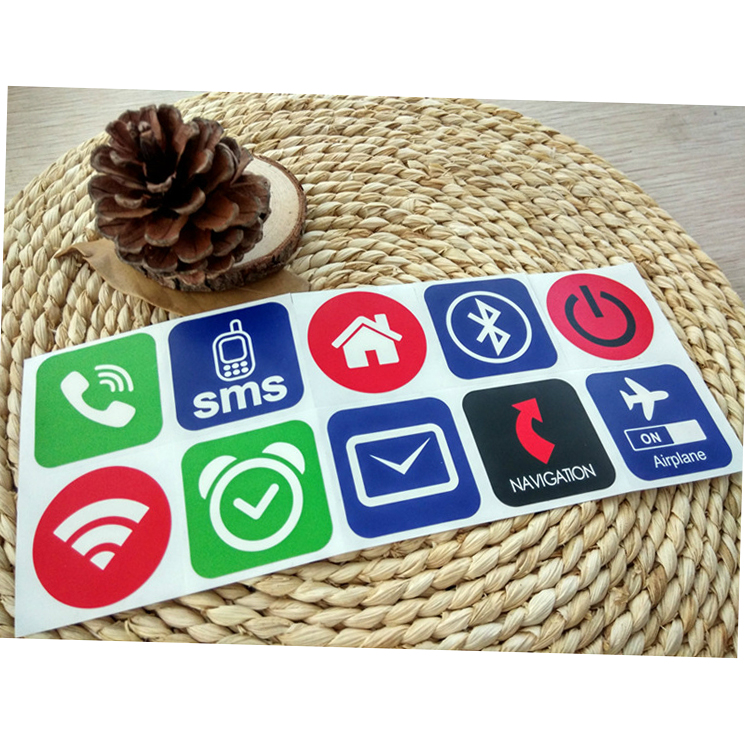 5YOA 10pcs/lot NFC Tags Stickers Ntag213 13.56mhz Label Rfid Tag Card Adhesive Key Tags llaveros llavero Token Patrol 200pcs lot ntag213 pvc card 13 56mhz nfc rfid label tag token for access control payment all nfc phone