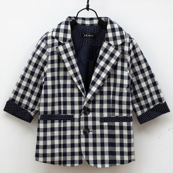 Toddlers Kids font b Boys b font font b Suit b font Jacket Coat Plaid Check