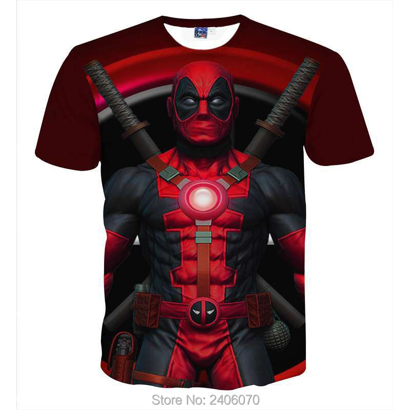 Teenager boy t shirt children summer kids clothes deadpool 3d t-shirt teens boy tees tops 3d sweatshirt superhero costume-2