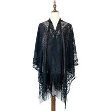 beach women poncho shawl capes wraps lace ponchos hollow fashion outwear tippet scarves luxury brand scarf