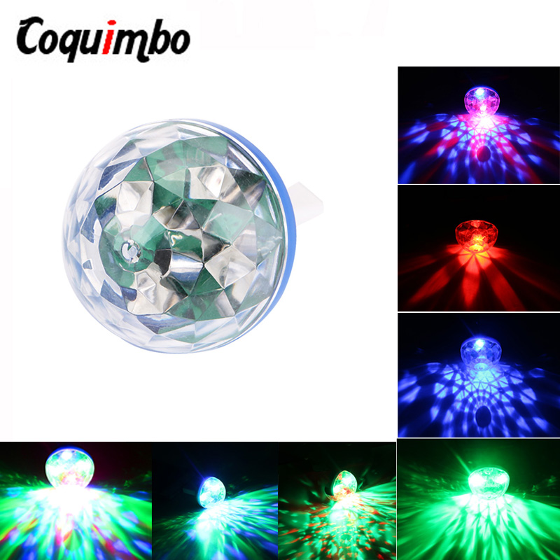 LED Mini USB Disco Light Sound Activated Crystal Magic DC 5V Colorful Home Karaoke Party Light Christmas Decorations Lamp