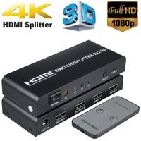 HDMI 2X2 Splitter Switch Support UHD 1080P 3D 4K 2 input 2 Output HDMI Switcher Converter for Xbox 360 PS3 PS4 Laptop DVD HDTV
