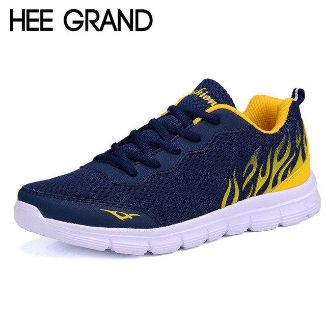 Hee Grand 2017 Случайные Люди Обувь Летний Стиль Сетки Квартир Man Шнуровке Мужчины Loafer Creepers Повседневная Обувь Плюс Размер 38-45 XMR1829