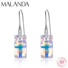 Crystals From Swarovski Urban Pendant Drop Earrings For Women Fashion Sterling Silver Piercing Dangle Earrings Handmade jewelry