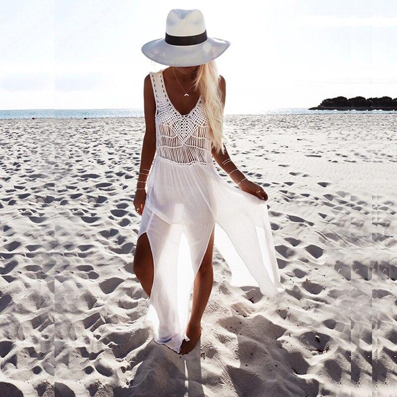 Sexy white beach cover up bikini sexy swimwear women summer dress beach skirt crochet skirt bathing suit summer girls swimsuit