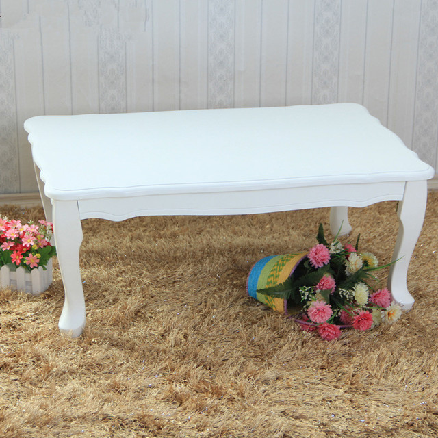Modern Sofa Table Folding Leg Rectangle 80cm 2 Color White Pink Living Room Furniture Japanese Center Laptop Wood Console Table