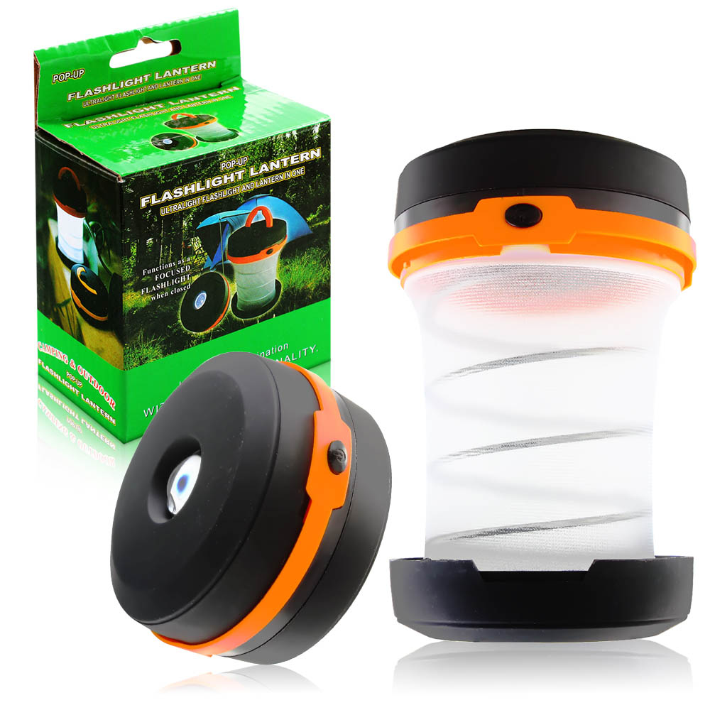 Multifunction 3 Colors Retractable 5 LED Outdoor Waterproof Camping Lantern Portable Mini Tent Light Emergency Lamp