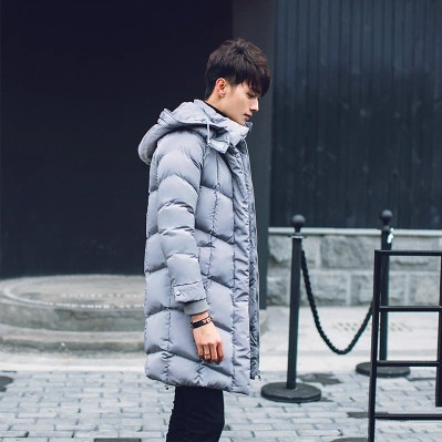 free shipping 2016 Winter long coat men s hooded down jacket cotton warm youth thicker coat