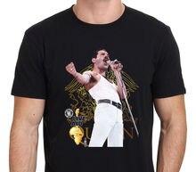 Freddie Mercury Queen Live Aid 1985 Bohemian Rhapsody Mens T-Shirt Size S-3XL Hipster Tees Summer T Shirt