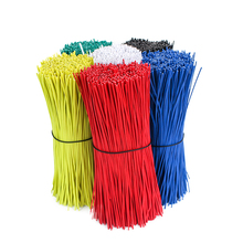 Купите 100 шт. получите 30 шт. бесплатно 0,55*150 мм планки для поддержки растений кабели в пластиковой оболочке многоразовые оцинкованные закрученные соединительные кабели черный и белый