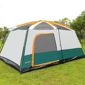 Image 2 - Большая туристическая палатка, на 8 10 12 человек, водонепроницаемая семейная палатка для отдыха на открытом воздухе, двухслойная, для мероприятий, роскошная, для кемпинга