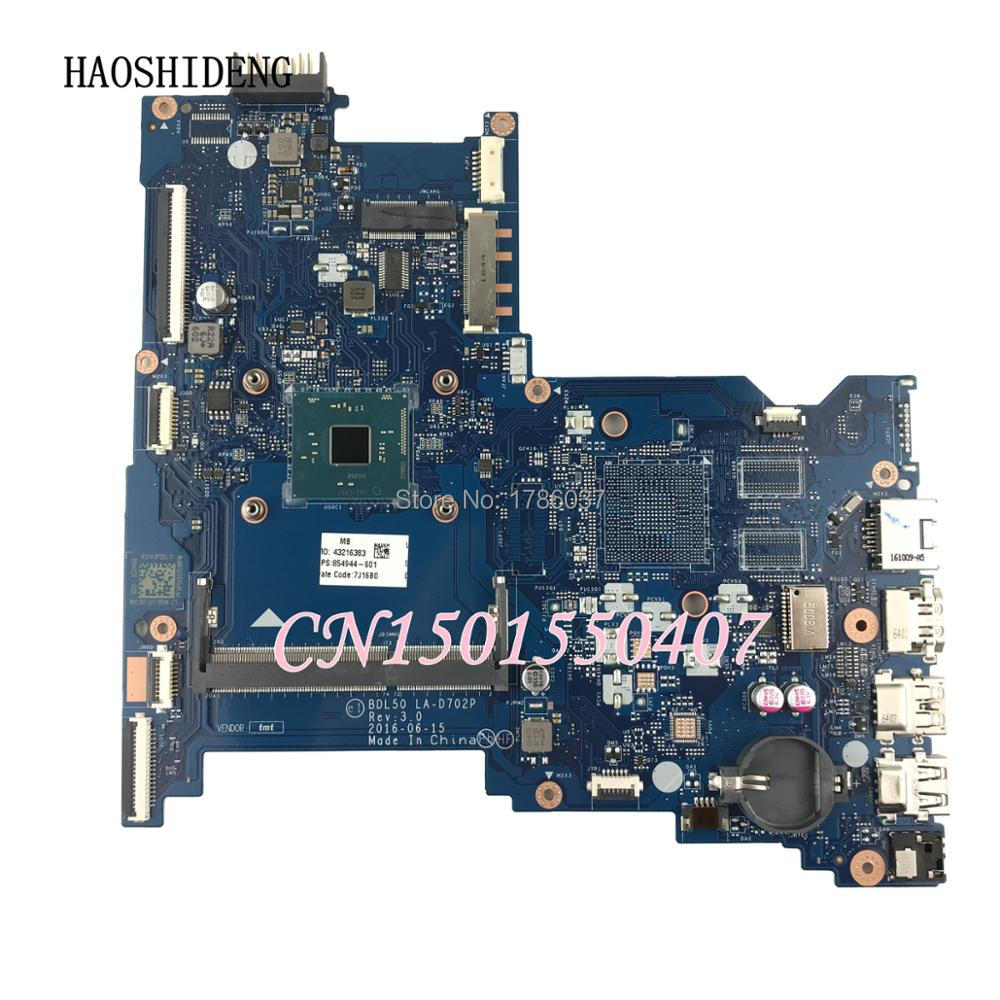 HAOSHIDENG 854944-601 854944-001 Mainboard For HP 250 G5 Laptop Motherboard BDL50 LA-D702P 854944-001.All functions fully Tested allishop 50m lmr195 sma male to rp sma male coaxial rf pigtail wireless wifi antenna cable signal low loss