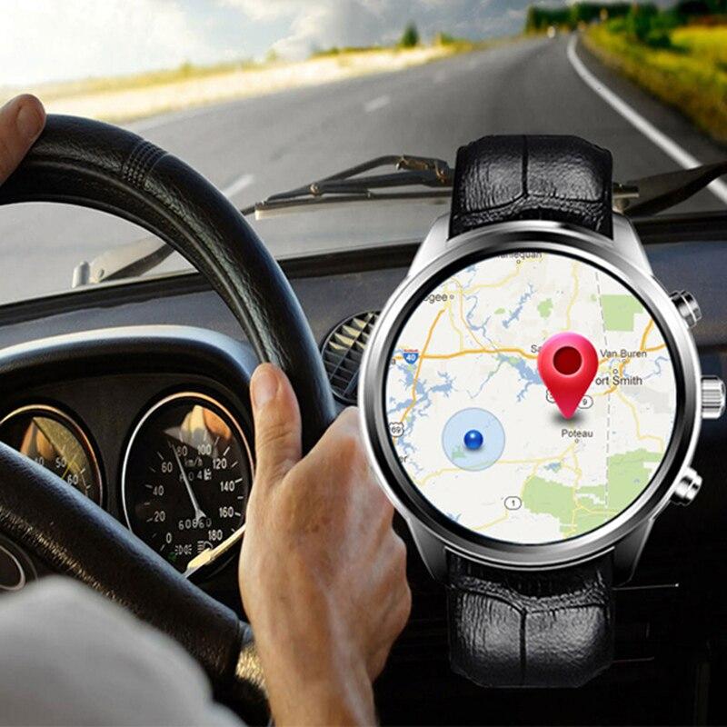 Multifonction étanche montre intelligente 2018 Android Bluetooth Wifi 5.1 téléphone portable carte GPS montre hommes d'affaires mode 2G + 16G