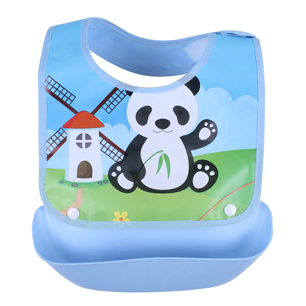 Accessories Liberal Baby Bibs For Boy Polyester Baby Bibs Silicone Waterproof Feeding Saliva Towel Panda Cartoon Waterproof Aprons Accessories K425 Relieving Heat And Sunstroke