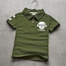 Children's Wear Summer Boy's Short Sleeve Cotton T-shirt Lapel POLO Shirt Leisure Kids Clothing Green Red