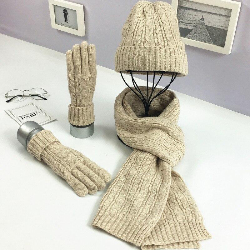 2018 Strick Kabel Ring Schal Weibliche Weiche Winter Unendlichkeit Schal Kaschmir Kragen Rundhals Schal Luxus Marke Damen 3 Stück Set