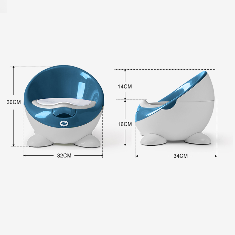 Купить с кэшбэком Children's toilet toilet cute baby urinal potty boy and girl child infant 1-6 years old baby large toilet for free potty brush