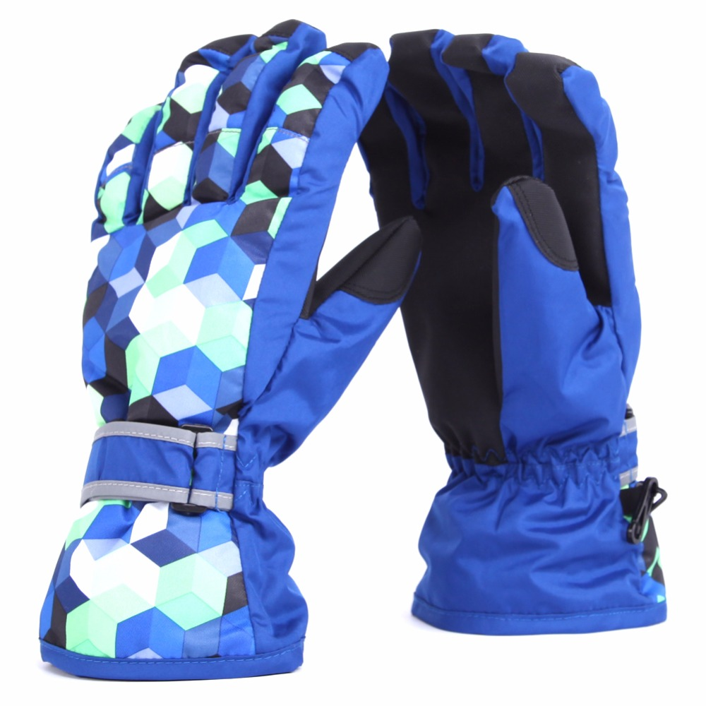 Men Waterproof Ski Gloves Winter Warm Skiing Gloves Snow Sport Mittens Outdoor Ski Snowboard Cyling Boys KidsJIRE84