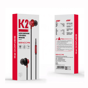 Image 5 - Senicc k2 3.5mm in ear fones de ouvido música fones de ouvido moda fone de ouvido com 4 pólo jack com microfone para almofada do telefone mp3 mp4 player