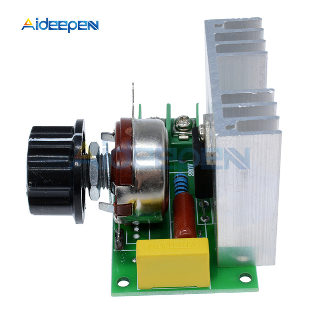 AC 220V 4000W High Power Motor Speed Controller Governor Dimmer Module SCR Electronic Voltage Volt Regulator Without Case