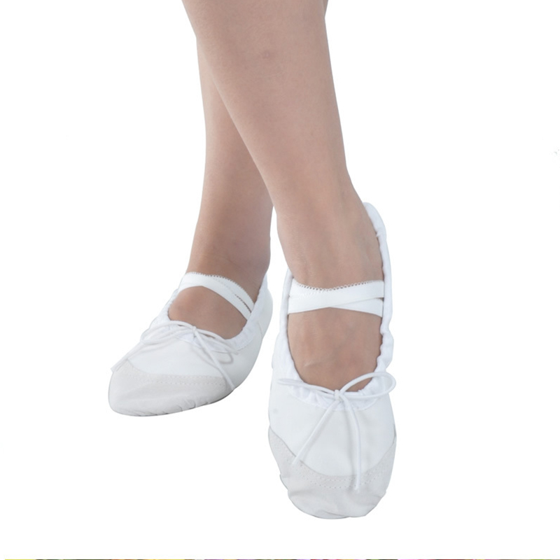 Show details for 4 Color Womens Professional Soft Flats Peep Toes Ballet Dance Shoe Ladies Girls Belly Dancing Shoes