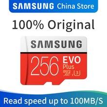 Карта памяти SAMSUNG EVO PLUS 256 ГБ micro SD SDHC SDXC класс 10 UHS-I U3 4K TF карты транс флэш microSD