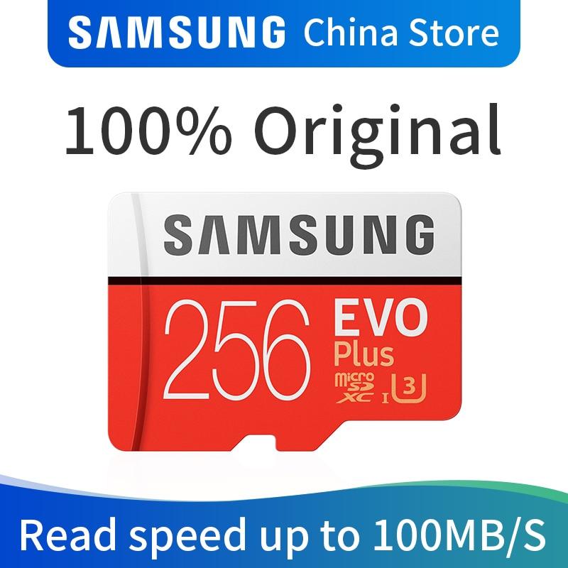 Samsung cartão de memória evo plus 256 gb micro sd sdhc sdxc classe class10 UHS-I u3 4 k tf cartões flash trans microsd