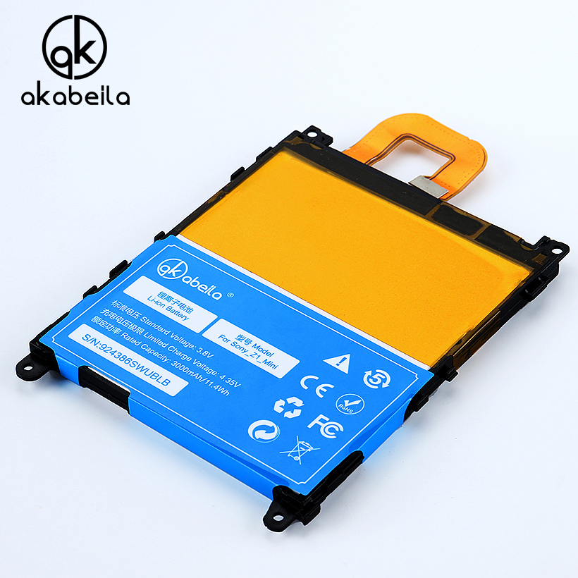 AKABEILA LIS1529ERPC Phone Battery For Sony Xperia Compact Bateria Sony Z1 mini D5503 M51w Replacement Mobile Phone Batterie