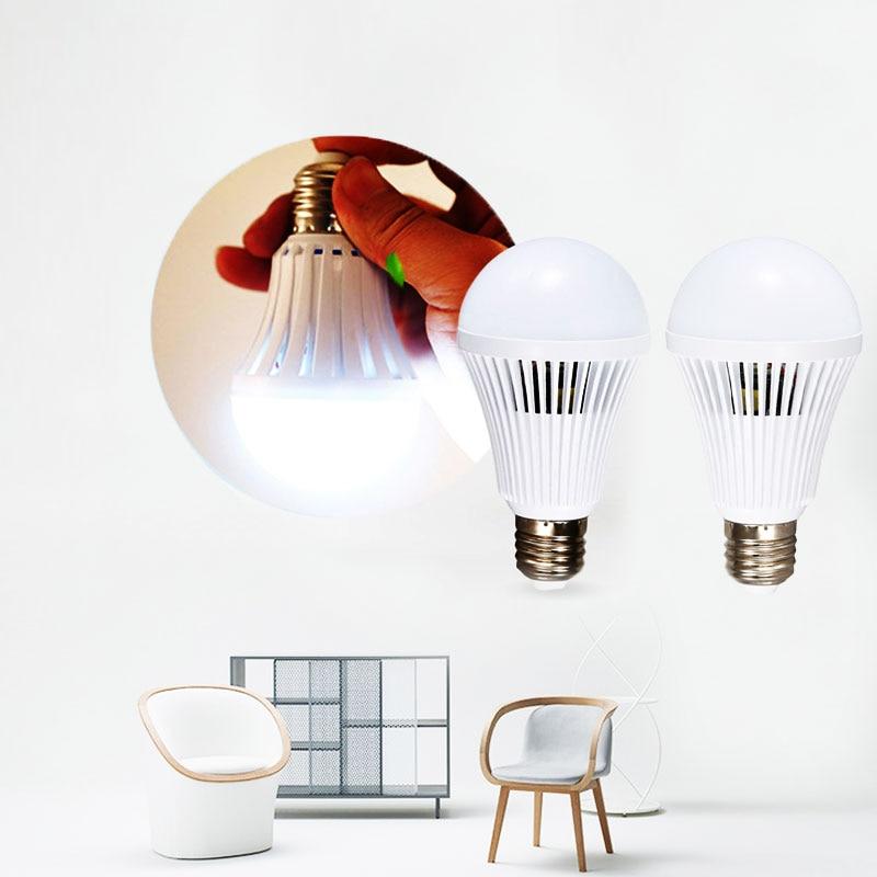 Energy Saving LED Intelligent Emergency Lamp Bulb Indoor Light 9W 900lm 6500K