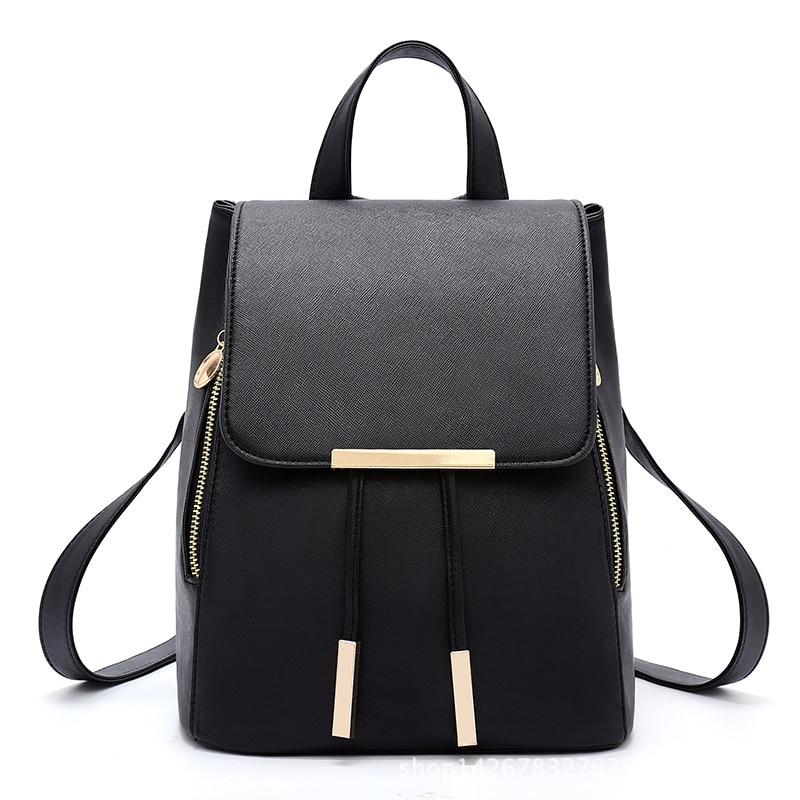 HerMerce 2018 Luxury Backpack Women Bags Designer Teenager Girls Satchels Women Fashion Solid Backpacks PU Leather Bags Softback