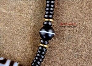 Image 4 - 2018 Nuovo Stile Girocolli Collana Tibetano di Dzi Perline Ji Semi precious Stone Fengshui Perline Per Gli Uomini e Le Donne Magia Collana di perline
