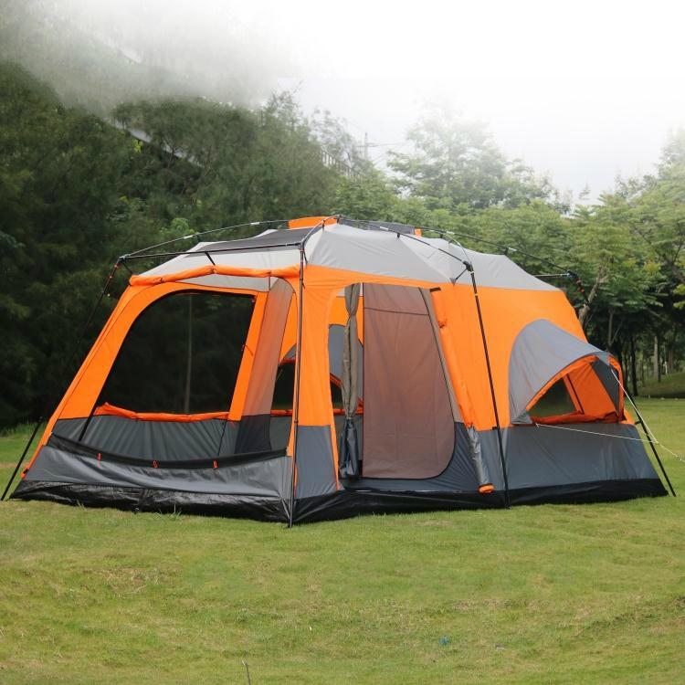 Очень Палатки высокое качество роскошные 1 зал 2 комнатами на возраст 6, 8, 10, 12 лет палатку снаружи 215 см высота Водонепроницаемый вечерние Сем...