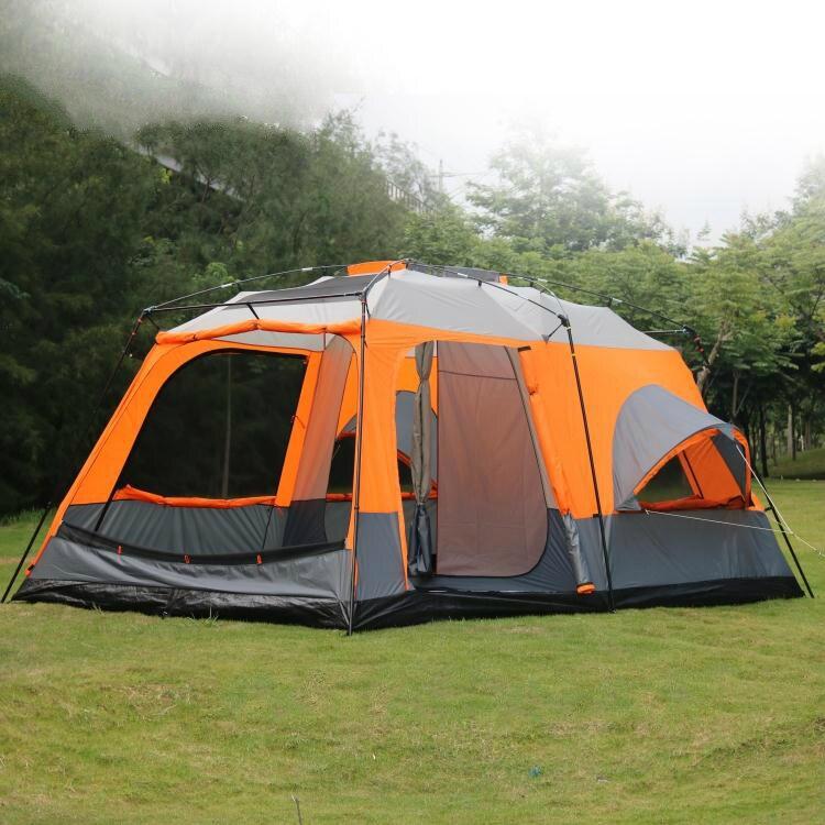 Ultralarge Tentes de Haute Qualité De Luxe 1 Hall 2 Chambres 6 8 10 12 Camping En Plein Air Tente 215 cm Hauteur Étanche Partie Famille Tente