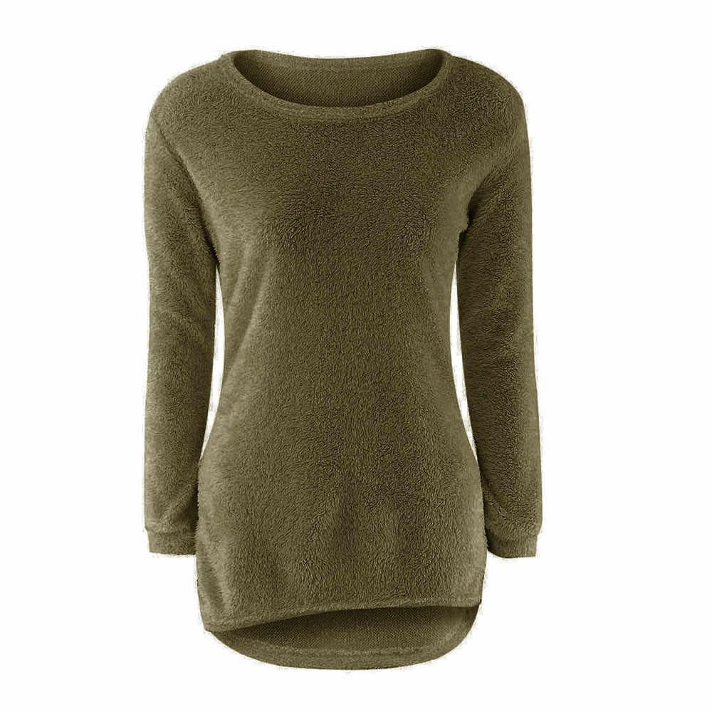 Mulheres das camisolas sueter mujer invierno 2019 pullover blusa de frio feminina Casual Sólidos Manga Comprida Jumper Camisolas Blusa #50