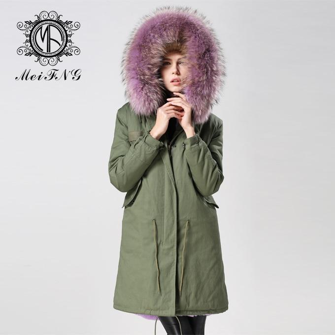 7e471104661a1 2017 Bodysuit Army Green Coats Women Korean Style Purple Faux Fur Lined  Trench Coat Plus Size European Winter Jackets-in Faux Fur from Women s  Clothing on ...