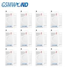 12 pcs Wireless door window open detector 433MHz Door Magnet Gap Alarm Long Distance Working For
