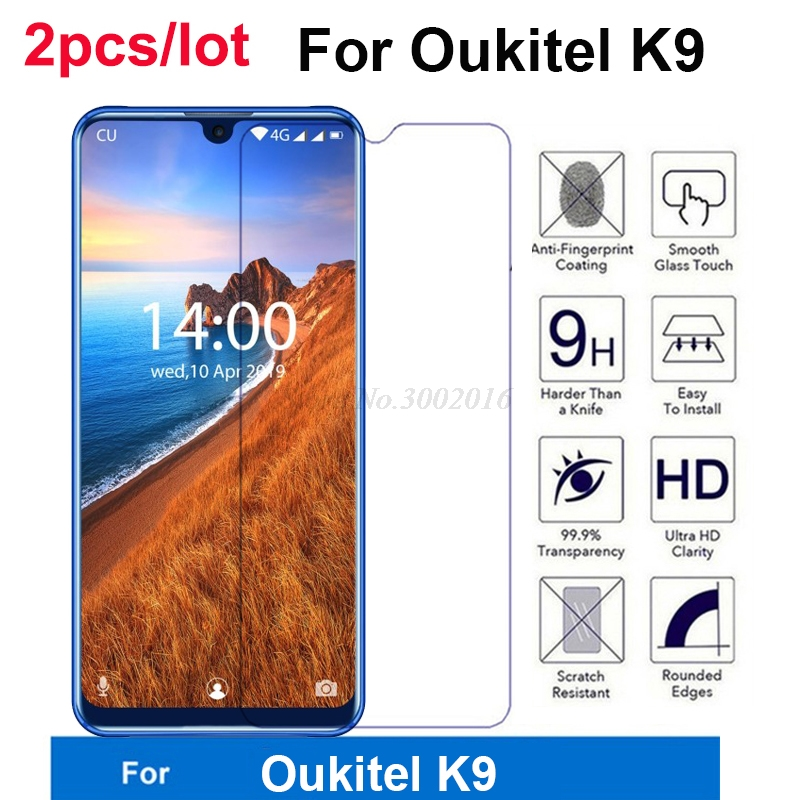 """2Pc Glass Cover For Oukitel K9 Tempered Glass 9H 2.5D Protective Smartphone Film For Oukitel K9 K 9 7.12"""" Glass Screen Protector(China)"""