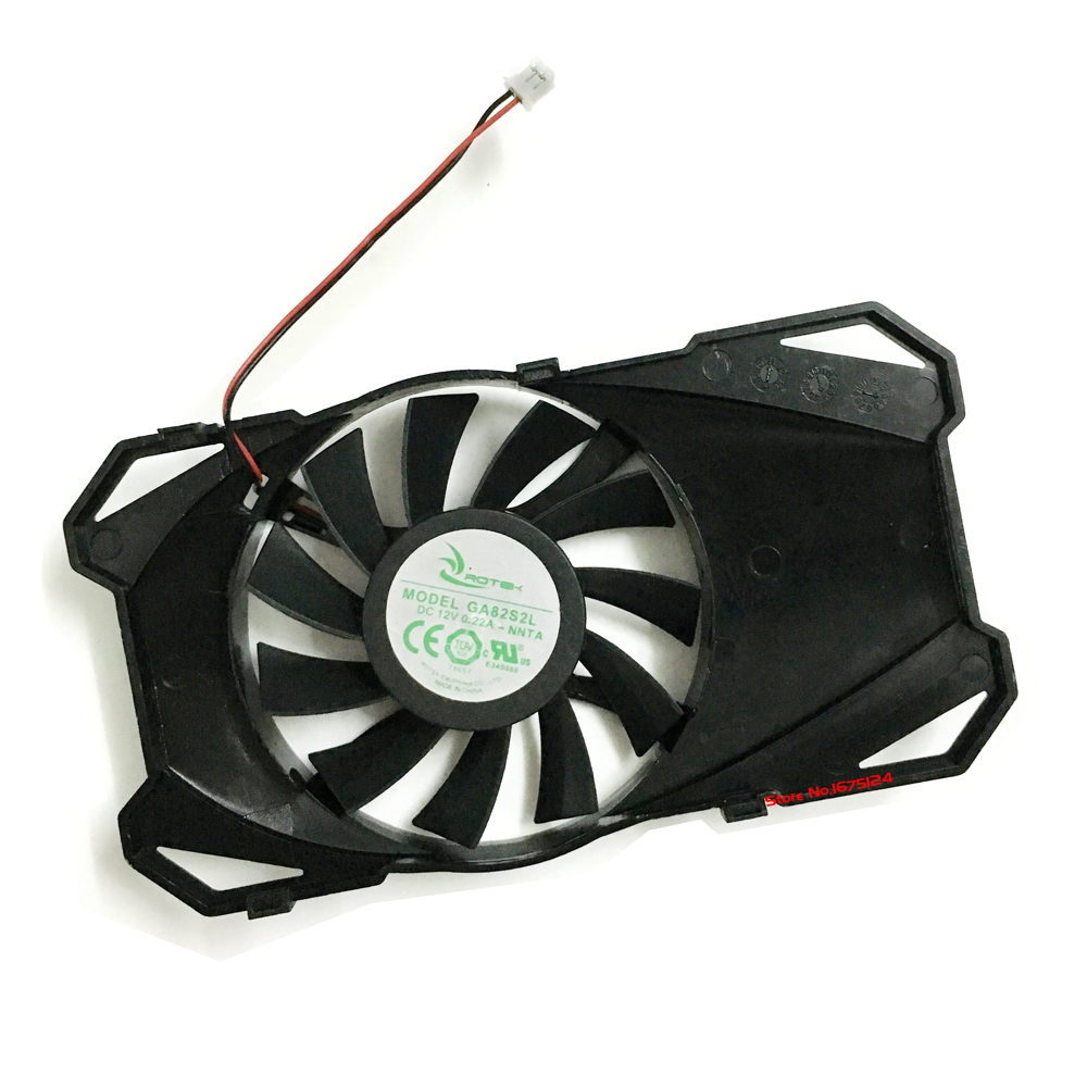 GA82S2L 0.22A 2line vga video card computer GPU cooler radiator cooling fan as replacement computer cooler radiator with heatsink heatpipe cooling fan for asus gtx460 550ti 560 hd6790 grahics card vga replacement