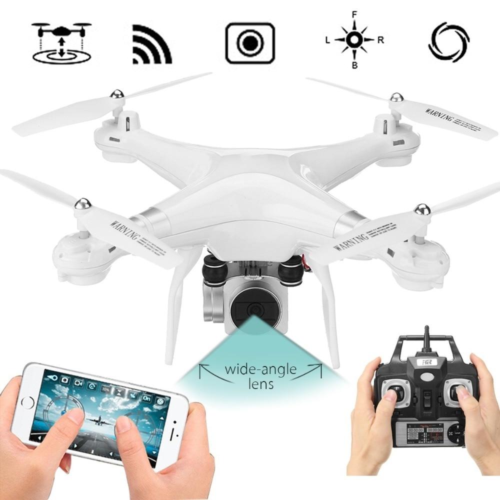 Drone 4 Canaux 2.4 GHz 2MP HD caméra LED Éclairage 6-Axis Gyro 360 degrés de Roulement Quadcopter APP Ensemble Hauteur À Distance UAV Avions
