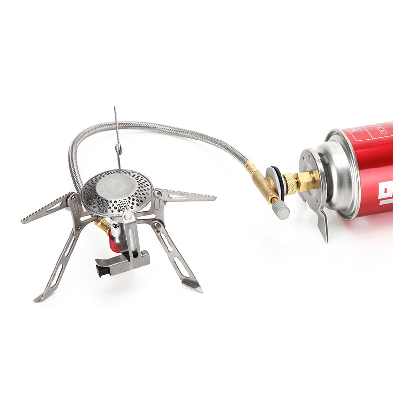 High quality split camping stove head ultra light 150 grams with automatic fire quality.