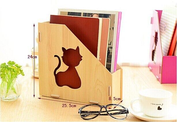 Home school kantoor houten afneembare desktop mand diy enkele
