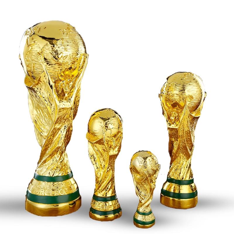 M.J.D. Coppa del mondo del Trofeo Della Resina Artigianato Calcio Premi Regali Cool Sorprese Decorazione Della Casa Creativo di Calcio Ventole D'oro
