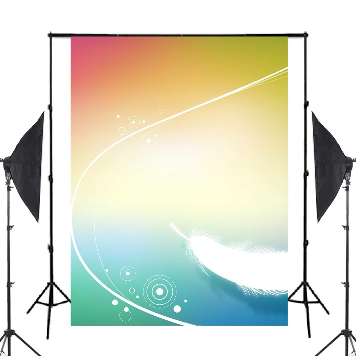 Image 2 - Exquisite Fluffy White Feather Background Photography Colorful Backdrops for Picture Kids Photo Studio Background 5x7ft-in Photo Studio Accessories from Consumer Electronics