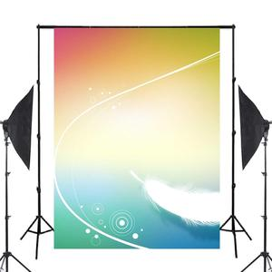 Image 2 - Exquisite Fluffy White Feather Background Photography Colorful Backdrops for Picture Kids Photo Studio Background 5x7ft