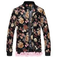 Bomber Jacket Men Autumn jaqueta masculino Men Floral Jackets Korean Slim Fit Long Sleeve Men Coats Mens Clothes Windbreaker 5XL