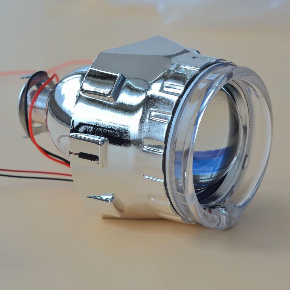 Спрятанный Бифокальные объектив проектора фар GZTOPHID 2.5 для H4 H7 гнездо и оптических световодов белый Ангел глаза+35ВТ Н1 лампы