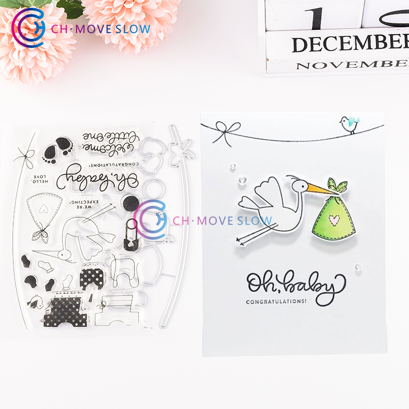 CH OH BABY Metal Cutting Dies Stencils for DIY Scrapbooking/photo