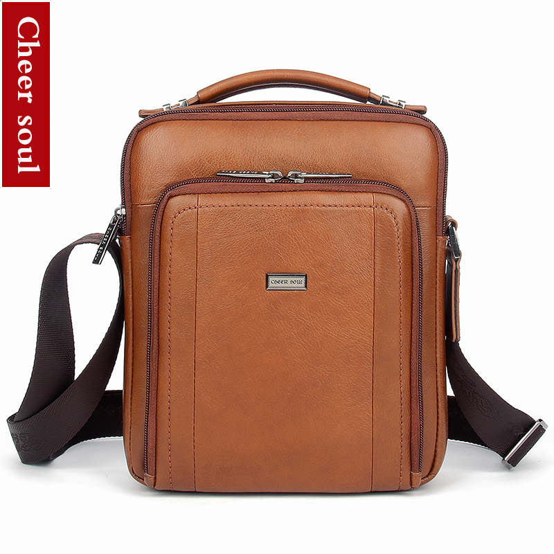 9e730147214 New fashion genuine leather men bags small shoulder bag men messenger bag  crossbody leisure bag